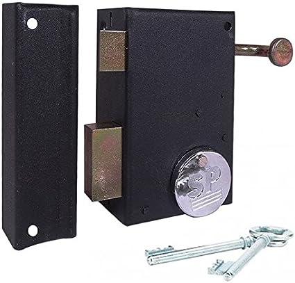 Thirard-Cerradura de sobreponer para puerta exterior vertical giro izquierda: Amazon.es: Bricolaje y herramientas