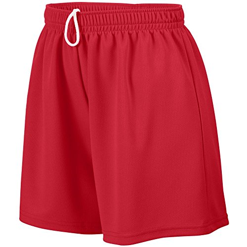 Augusta Sportswear Girls' WICKING MESH SHORT L Red