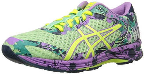 ASICS Women's Gel-Noosa Tri 11 Running Shoe, PATINA Green/Flash Yellow/Violet, 9 M US