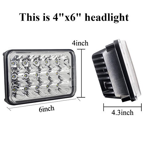 delicate Rectangular LED Headlights 4x6 Sealed Beam Square