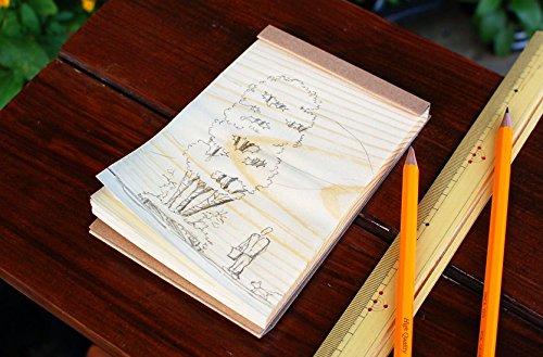 Japanese Wood Memo Pads by KIZARA (Medium - 15.4cm x 10cm) Teacher Memo Sheets