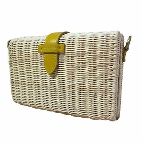Rattan Handbags, Ivory, Designer's Handbag, Leather Strap, Box, Basket - Gabbana Is What Dolce And