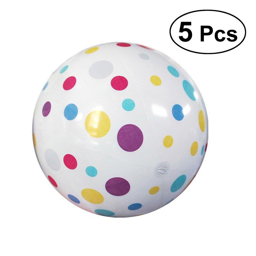 YeahiBaby Balles de plage gonflables - 5 Pcs 22cm fleur imprimé boules de jeu, faveurs du parti