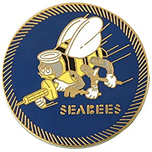 Seabees Lapel Pin, 1.5 inch