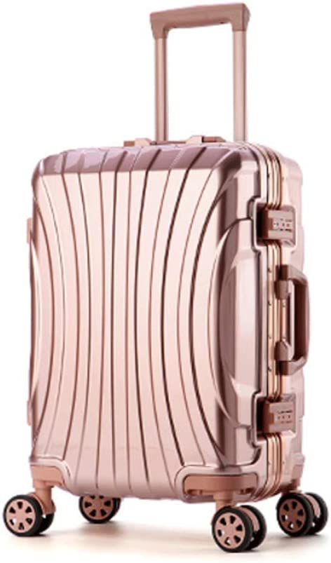 Color : Red, Size : 22 inches HUANGDA Aluminum Alloy 20//24//26 Inch Metal Suitcase Men and Women Trolley Case Universal Wheel Password Box Luggage