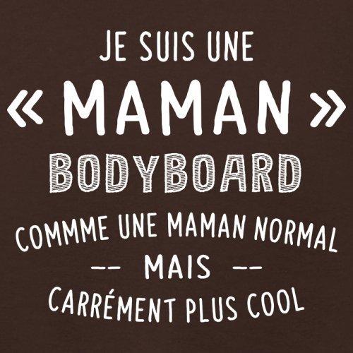 une maman normal bodyboard - Femme T-Shirt - Maron Foncé - XL