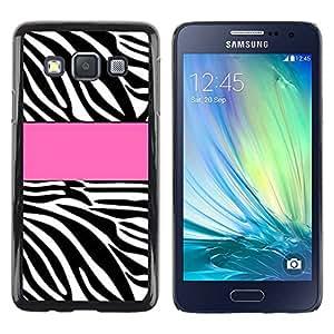 Paccase / SLIM PC / Aliminium Casa Carcasa Funda Case Cover - Pink Pattern Line Black White - Samsung Galaxy A3 SM-A300