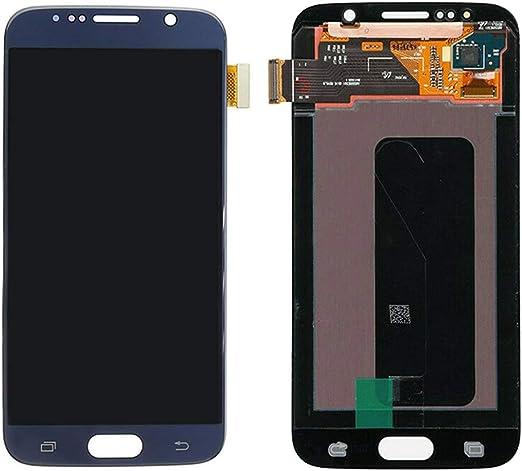 Amazon Com Pantalla Lcd De Repuesto Para Samsung Galaxy S6 G920 G920f Pantalla Lcd Digitalizador Táctil Un Conjunto De Herramientas Azul