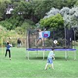 Skywalker Trampoline 13-Foot Square Sports Arena Trampoline and Safety Enclosure with Blue Spring Pad, Perfect for Family Outdoor Games and Fun