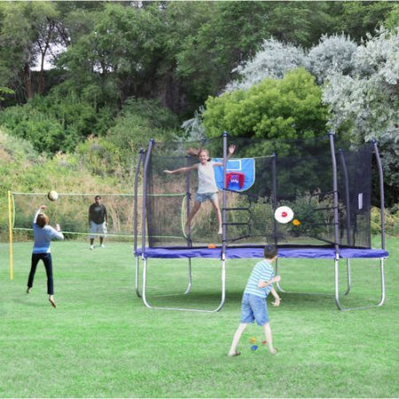 Skywalker-Trampoline-13-Foot-Square-Sports-Arena-Trampoline-and-Safety-Enclosure-with-Blue-Spring-Pad-Perfect-for-Family-Outdoor-Games-and-Fun