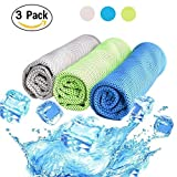 Cooling Towel 3 PACK, Cooling Towels for Sports, Fitness, Yoga, Pilates, Gym, Golf, Hiking, Biking and More, 40 x 12 inch