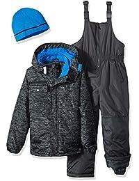 Boys' Tonal Print Snowsuit With Gaiter
