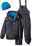 iXtreme Boys' Big Tonal Print Snowsuit W/Gaiter, Black, 18