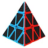 Dreampark Pyraminx Pyramid Speed Cube, Triangle Carbon Fiber Sticker Twisty Puzzle for Kids' Intelligence Development, Speed Cubing Beginners or Puzzle Enthusiasts