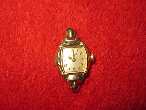 Old Vintage Bulova Ladies Wristwatch Watch Face - 10k RGP Rolled Gold Plated , 17 Jewels (Bulova 17 Jewel)