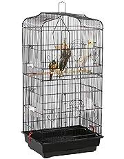 Yaheetech Vogelkäfig käfig Vogelvoliere Vogelhaus für Papagei Wellensittich finken kanarienvögel