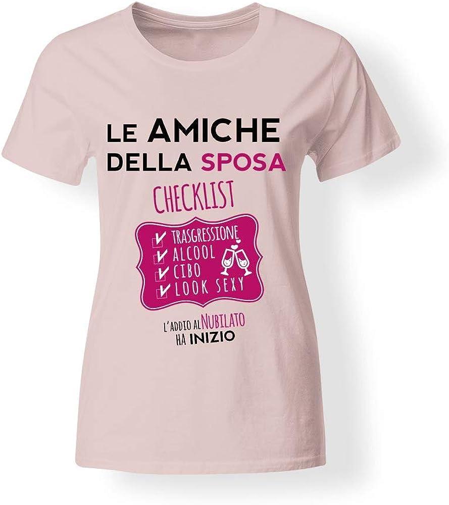 My Digital Print Camiseta para Despedida de Soltera, diseño de Las Amigas de la Novia Rosa Large Mujer: Amazon.es: Ropa y accesorios