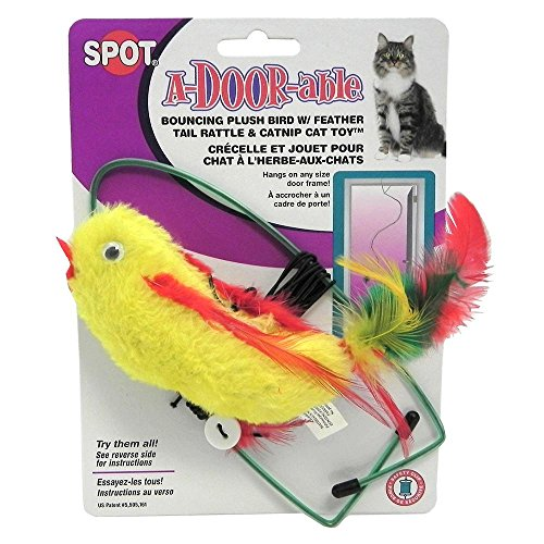 A-door-able Cat Toy Bird Plush/Feather 3 Pack - A Door Able Cat Toy