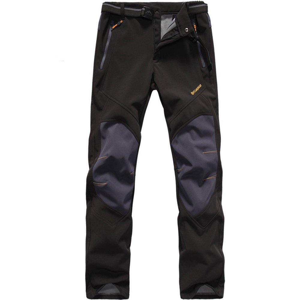 2f24a0ee0 BOSOZOKU Men's Waterproof Soft Shell Fleece Lined Pants Windproof Hiking  Camping Outdoor Trousers