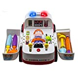 Ambulance Rescue Vehicle Bump & Go with Various Medical Equipment, Lights Music and Medical Sounds, by Happytime Toy