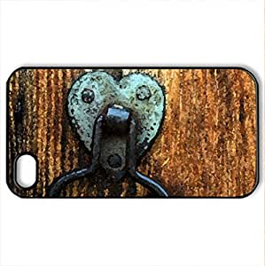 Old Door - Case Cover for iPhone 4 and 4s (Watercolor style, Black)