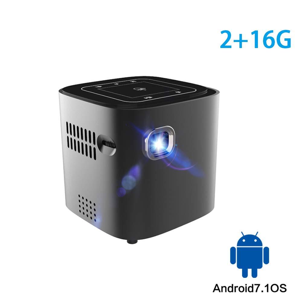 TONGTONG Mini proyector para Full HD 1080P Android 7.1.2 OS ...