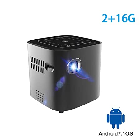 TONGTONG Mini proyector para Full HD 1080P Android 7.1.2 OS ...