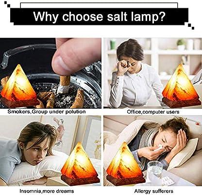 La lámpara de la Sal del triángulo/la luz de la Noche del ...