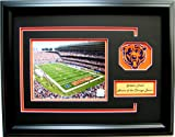 NFL Chicago Bears Soldier Field Framed Landscape Photo with Team Patch and Nameplate