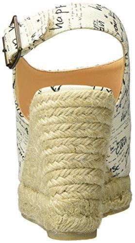 Desigual Damen Redonda Keil Sandalette, Weiß, 39 EU
