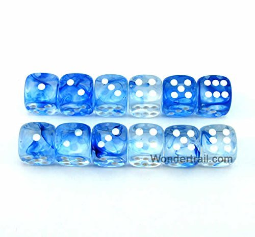 注目ブランド WCX27866E12 Blue Nebula Dice with White Pips Pips D6 B00VWWPFRI with 12mm (1/2in) Chessex B00VWWPFRI, 靴のオフサイド:72ac8188 --- egreensolutions.ca