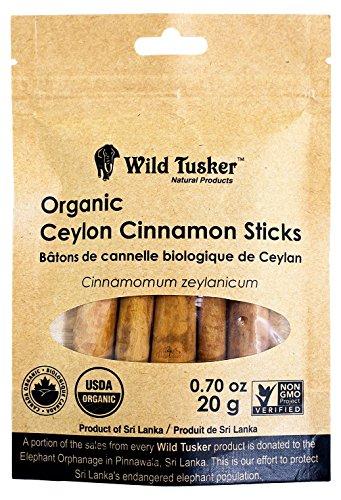 Wild Tusker Organic Ceylon Cinnamon Sticks, 20g