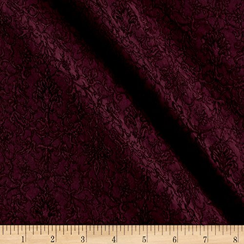 TELIO Strasbourg II Jacquard Fabric by the Yard, Wine