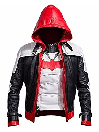 Azcloset Batman Arkham Knight Leather Jacket + Vest 2 in 1 - Halloween Offer (XXXL)