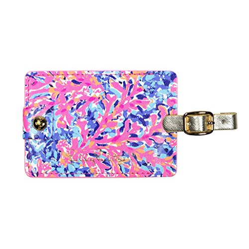 Lilly Pulitzer Girls' Luggage Tag K, Coco Coral Crab, 0 M US Infant - Lilly Pulitzer Infant