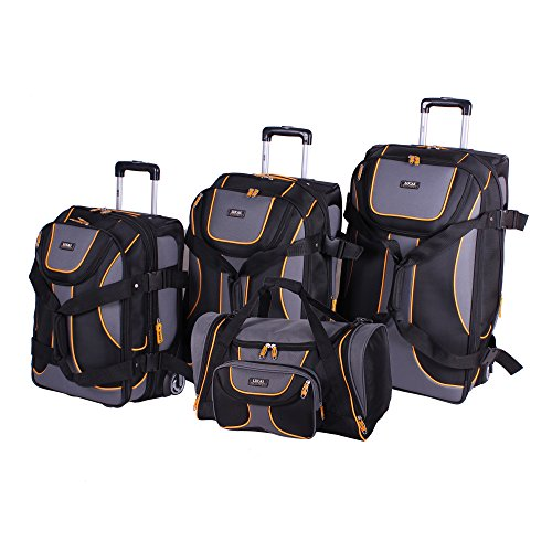 Lucas Luggage Sport 4-Piece Expandable Wheeled Upright Luggage Set (Black) by Lucas