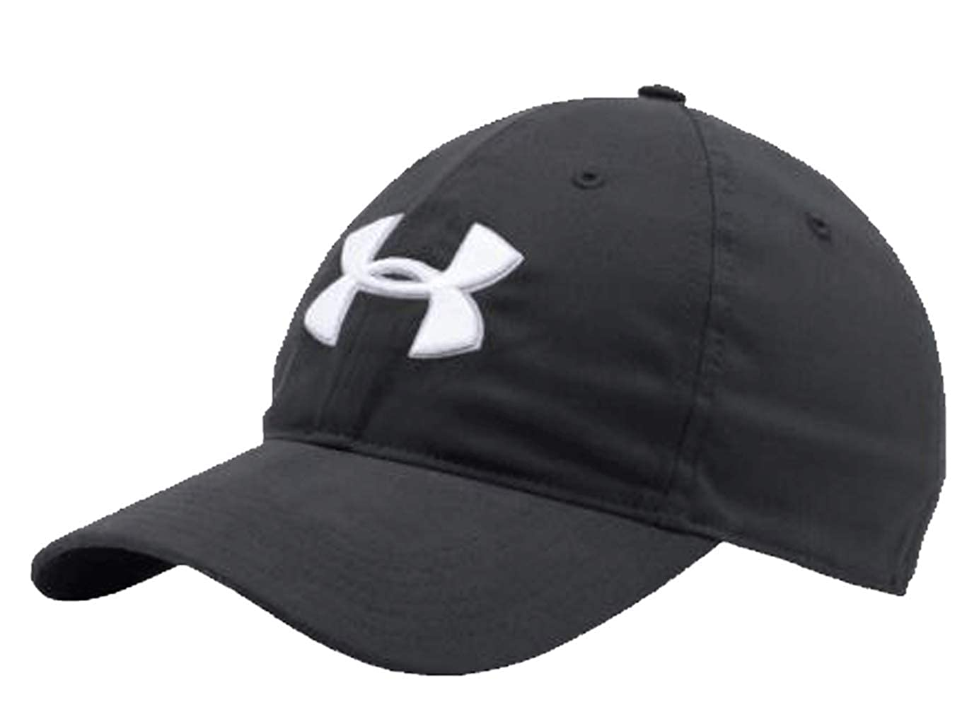reputable site 974f1 e0e69 Under Armour Men s Core Chino Golf Hat OSFA Black White Cap Strap Back  1296629 at Amazon Men s Clothing store