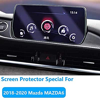 for Mazda MAZDA6 Navigation Screen Protector [2020-2020], TTCR-II Tempered Glass Screen Protector [0.3mm, 9H Hardness] Anti-Explosion Entertainment LCD Screen Protector Foil: Automotive