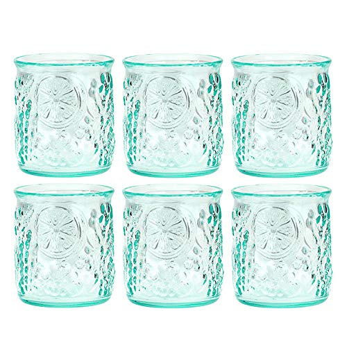 Amici Home 7AJ721S6R Frutta Double Old Fashioned Drinking Glass 12 Fluid Ounces Clear Green Recycled ()