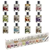 Pack of 12 Assorted Fragrance 10ml Bottles of Essential Aromatherapy Oils Gift Set - Ideal for Scented Oil Burners