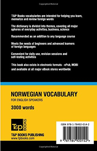 Get e-book Norwegian vocabulary for English speakers - 3000 words