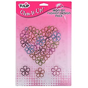 Tulip Express Yourself Iron-On Fashion Design Pack-Flower Heart Pack 85