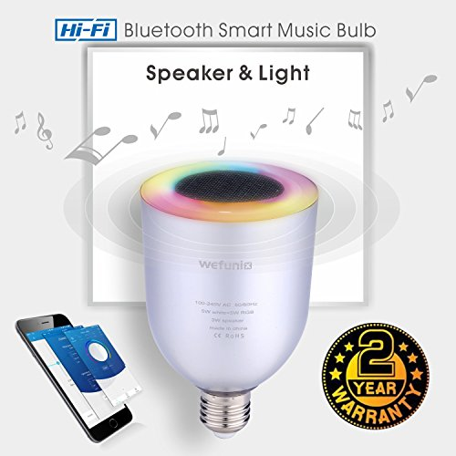 Bluetooth LED Light Bulb Speaker Smart Bulb