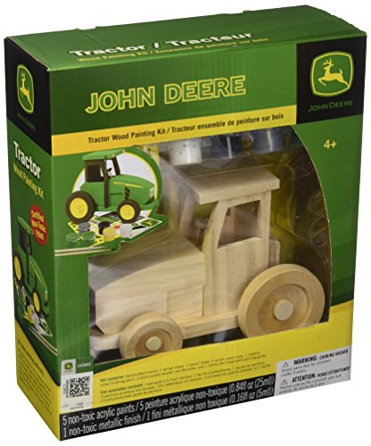 Masterpieces Masterpieces Wood Paint Kit, John Deere Tractor Toy Tractor Collectors