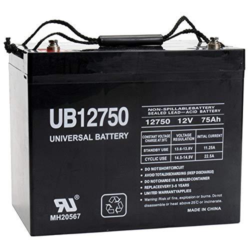 - Universal Power Group UB12750 12V 75AH Internal Thread Battery for Meyra Orthocar 315