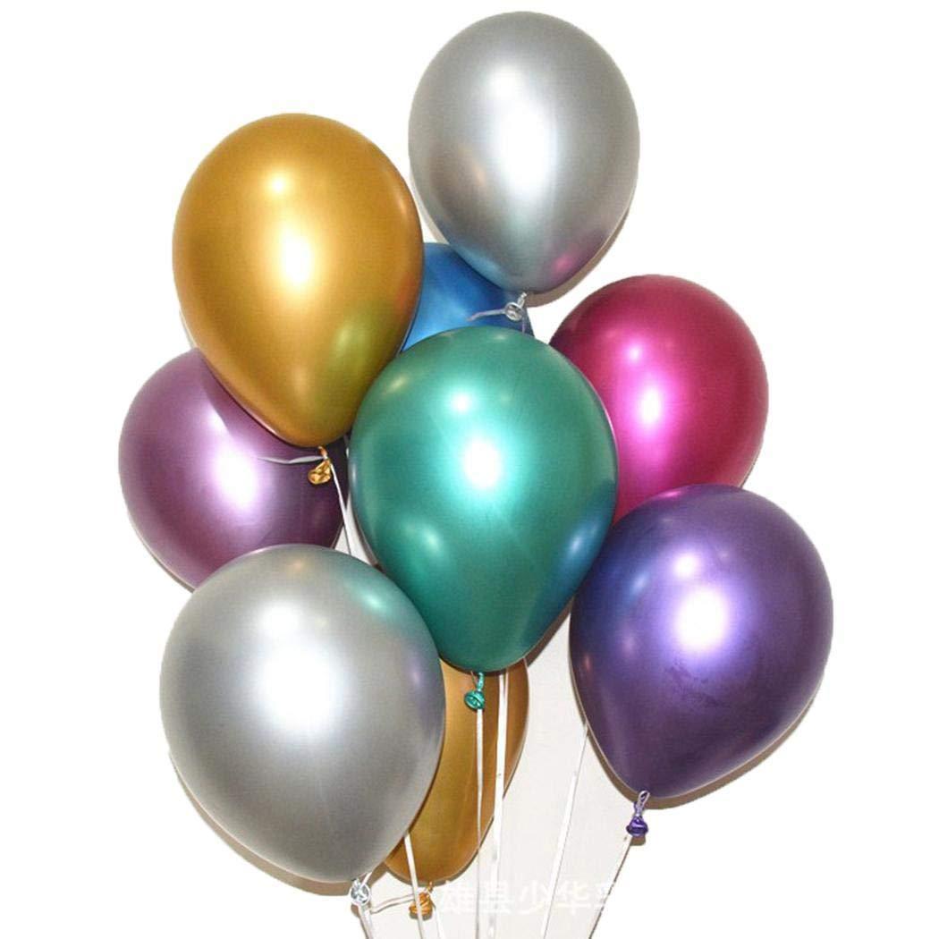 Bibmmo Bright Color Latex Metallic Balloons Wedding Party Decoration Balloons