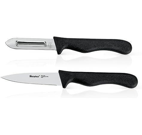 Compra Metaltex 258131 - Pelapatatas y Cuchillo Verduras, 8 ...