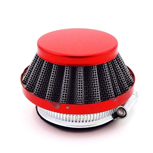 TC-Motor Mini Moto Racing Red 44mm Air Filter Cleaner For Carburetor Carb 47cc 49cc 2 Stroke Quad ATV Dirt Pocket Bike (Mini Moto Racing)