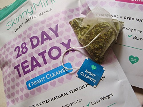 Night Mint (SKINNY MINT - NIGHT CLEANSE (CAFFEINE FREE) - 28 DAY TEATOX - PLUS NUTRIENTS REPORT FREE AS GIFT)
