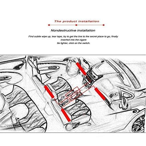 car led strip lights  vexverm 4pcs 48 led car interior light  multicolor music atmosphere lights